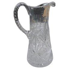 American Brilliant period cut glass 9 inch water pitcher