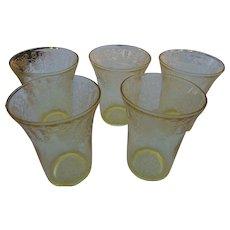 5 Vintage glass by Hazal Atlasyellow 9 oz goblets