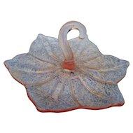 Vintage elegant pink lotus bon bon dish
