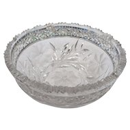 American brilliant period cut glass bowl circa 1900