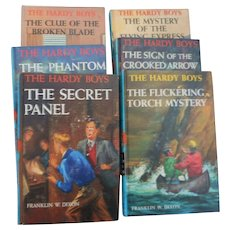 Six different Hardy Boys  hard cover books