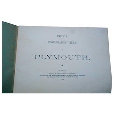 1902 50 photographs of historic Plymouth Massachusetts brochure