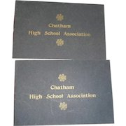 Chatham Massacusetts 2 paper program red at the tenth reinion of the Chatham high School Association 1900