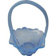 Vintage light blue opalescent bridal basket