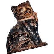 Circa 1920 cast iron 3 inches  tall cat