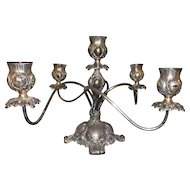 Circa 1890 silverplaee candelabra made by Pairpont 5 sticks