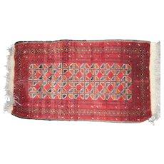Vintage oriental rug runner 22 x  37 inches