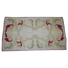 Circa 1930 hooked rug 28 x 50 inches