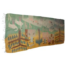Vintage hand sewn wool 36 x 78 inches  runner