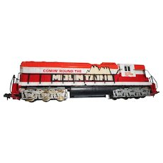 Vintage Tyco model h o train locomotive  Comin round the mountain