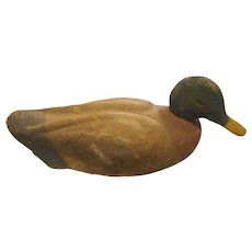 Circa 1930 Mallard Duck decoy  composition