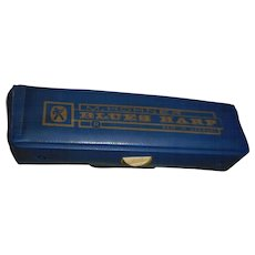 Vintage M Horner blues harp with original case