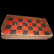 Circa 1900 cadboard folding game box decorated