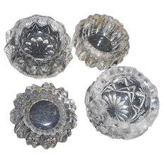 Four vintage vintage cut glass salts