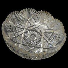 Circa 1900 american brillian tperiod  cut glass bowl