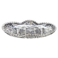 Circa 1900 american brilliant period cut glass celery dish