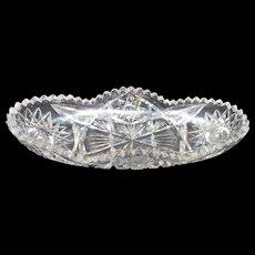 Circa 1900 american brilliant period cut glass celery dish