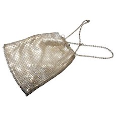 Vintage Whitting and Davis silver mesh  coin purse