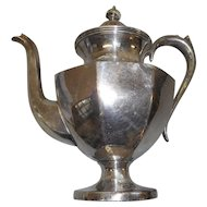 Vintage silver plate coffee pot made by Hartford sterling company