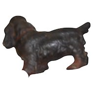 Circa 1890 cast iron Springer dog door stop