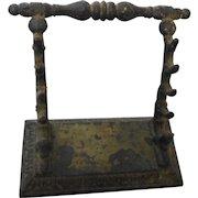 Circa 1880 cast iron pen quil holder