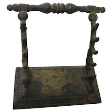 Circa 1880 cast iron pen quil holder