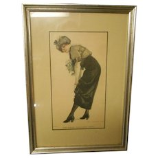 Vintage framed and matted James Montgomery Flagg lithograph