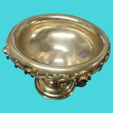 Vintage heavy silver plate urn champaign holder 7 inches tall 10 inches wide  ornate rim