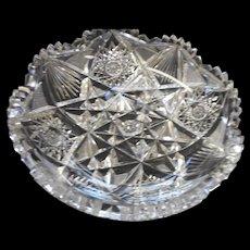 American brilliat period cut glass low bowl circa 1900