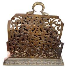 Circa 1900 vicorian brass letter holder