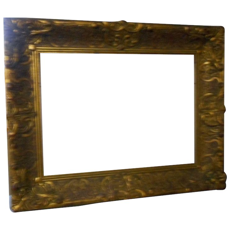 Circa 1880 gesso picture frame 22 x 17 inches : bobs antiques | Ruby ...