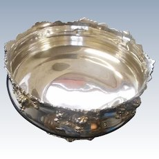 Gorgeous silver plate ornate footed bowl by Reed and Barton