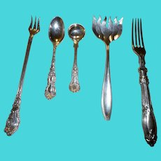 Ive vintage silver plate ornate eating utinsels