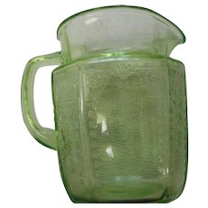 Vintage ere green deorssion era small pitcher