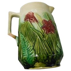 Vintage art [oyyery 7 inch Majolica pitcher