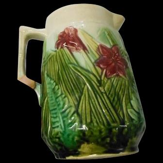 Vintage art [oyyery 7 inch Majolica pitcher