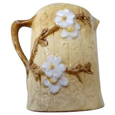 Vintage art pottery Majolica pitcher