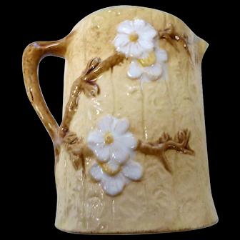 Vintage art pottery Majolica pitcher