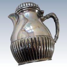 Circa 1890 Victorian silver plate large creamer flip top lid
