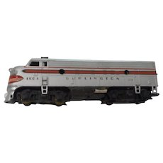 Vintage Tyco model train burlington 150-a
