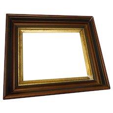 Circa !900 Victorian deep dish walnut picture frame