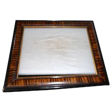 Circa 1890 faux painted rectangle picture frame