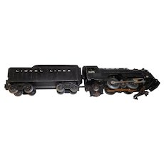Vintage metal model train Lionel locomotive 999 snd coal tender
