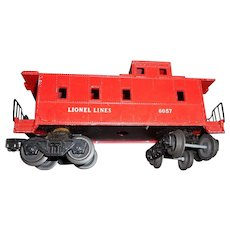 Vintage Lionel red caboose 6057 model train