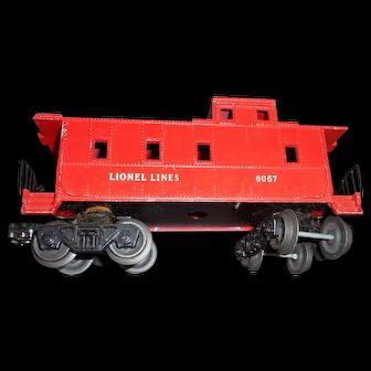 Vintage Lionel red caboose 6057 model train