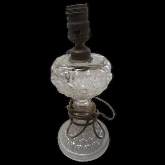 Circa 1890 glass bubble electrified oil lamp