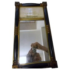 Vintage mirror with bark Presiden picture on top