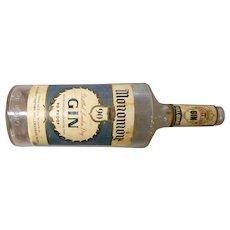 Vintage  Monomoy Liquors quart gin bottle from Chatham massaachusetts