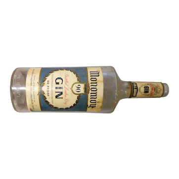 Vintage  Monomoy Liquors quart gin bottle from Chatham massaachusetts