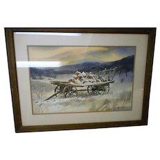 Michael Barkman listed artist amrtican water color society pennsylvainia framedrural scene